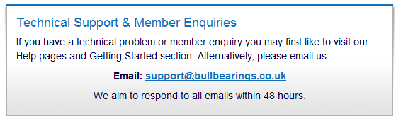 Bullbearings technical support